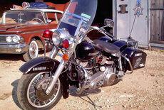 Harley Davidson Polizei-Motorrad Oldtimer