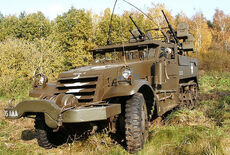 White Halftrack M16 Multiple Gun Motor Carriage Oldtimer