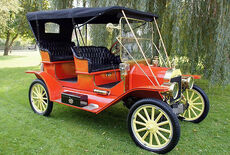 Ford Model T Touring Tourabout, Messingmodell Oldtimer