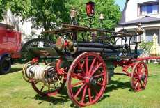 Kutschenwagen Feuerwehr Handdruckspritze